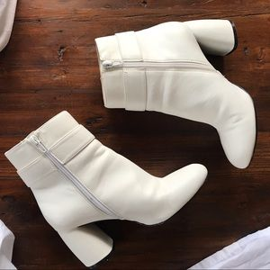 Nine West Shoes - Nine West • Kyra White Retro Booties